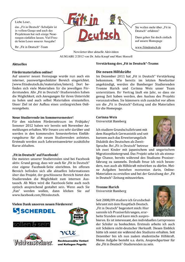 Fit in Deutsch - Newsletter Ausgabe 2