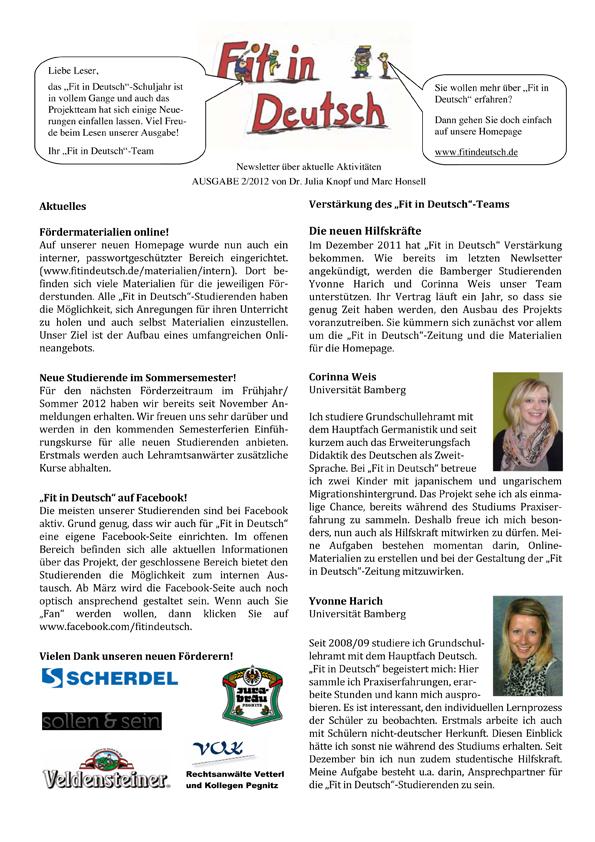 """""""Fit in Deutsch""""-Newsletter Ausgabe 2"""