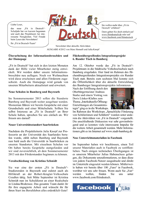 Fit in Deutsch - Newsletter Ausgabe 4
